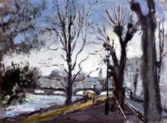 Strasbourg - XXI century, Oil on canvas, Figurative, Landscape