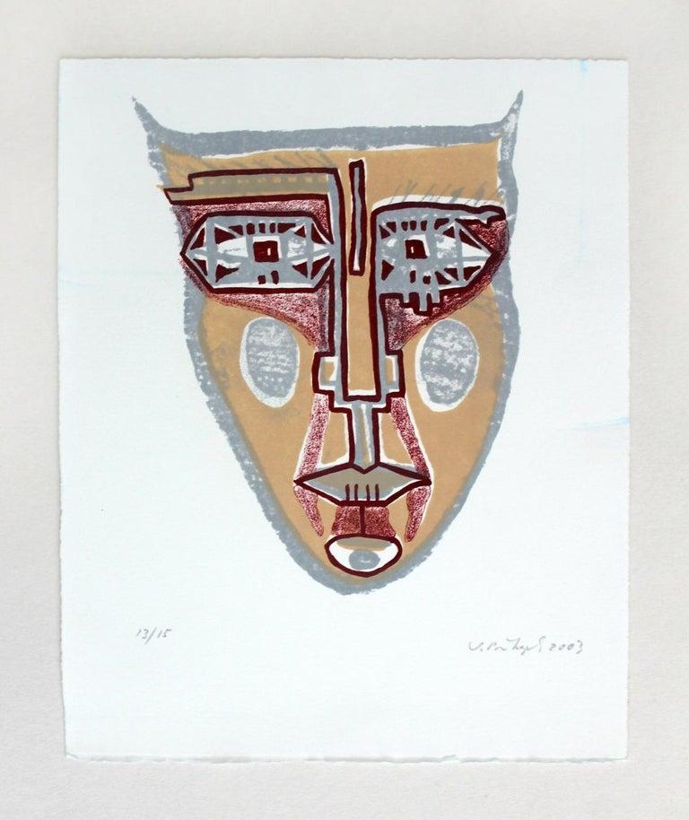 Mask II - XXI century, Mixed media print, Colourful 2