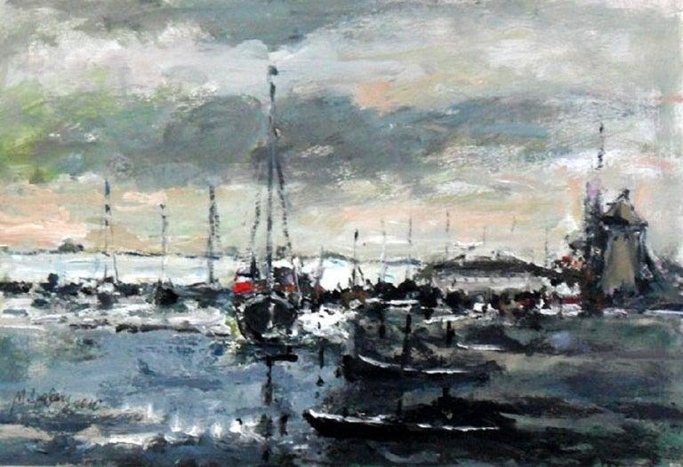 Port - XXI century, Oil on canvas, Figurative, Landscape 1