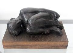 Nude - XXI century, Bronze figurative sculpture