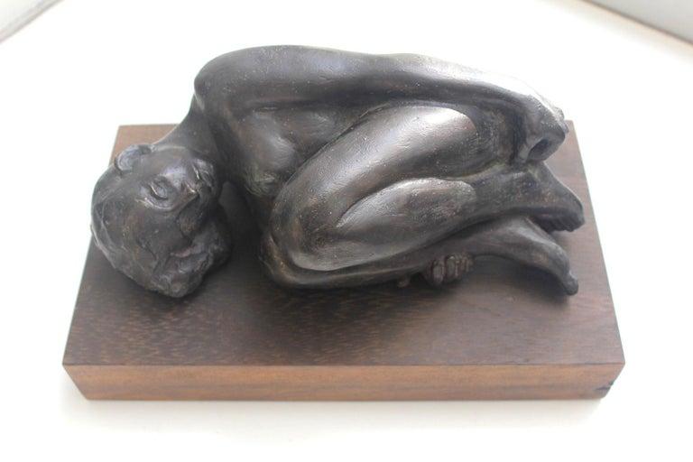 Nude - XXI century, Bronze figurative sculpture 3