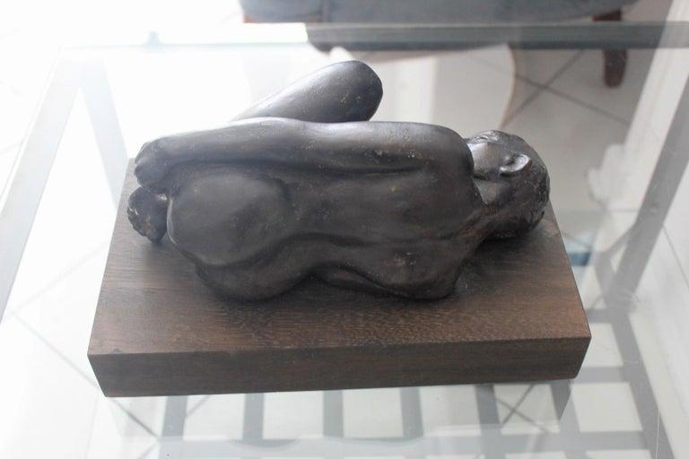 Nude - XXI century, Bronze figurative sculpture 4