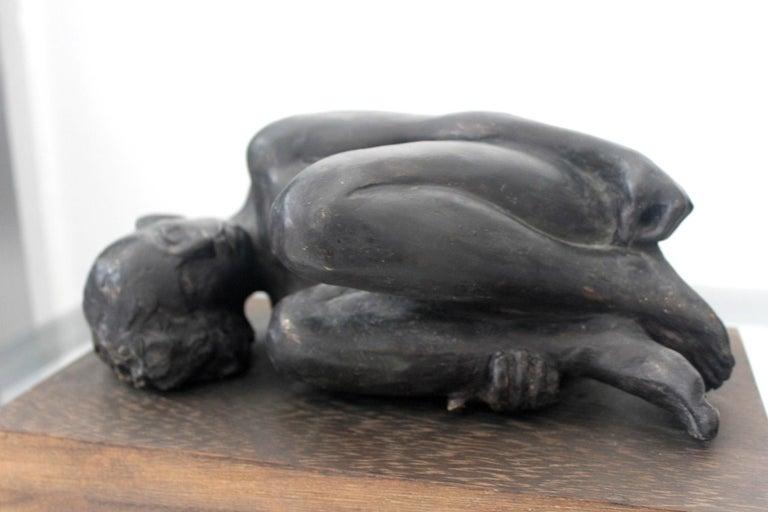 Nude - XXI century, Bronze figurative sculpture 5