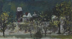 Warsaw. A view - XXI century, Oil on canvas, Figurative, Landscape