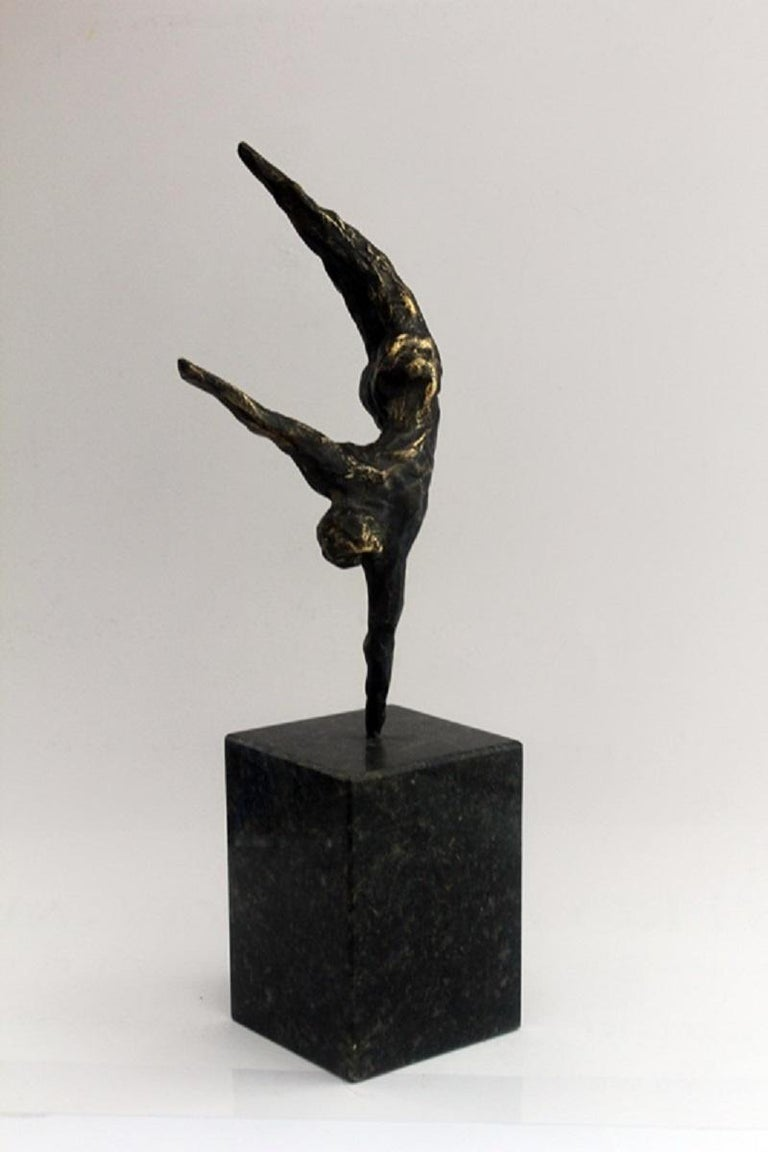 An acrobat - XXI century, Bronze figurative sculpture, Nude - Other Art Style Sculpture by Ryszard Piotrowski