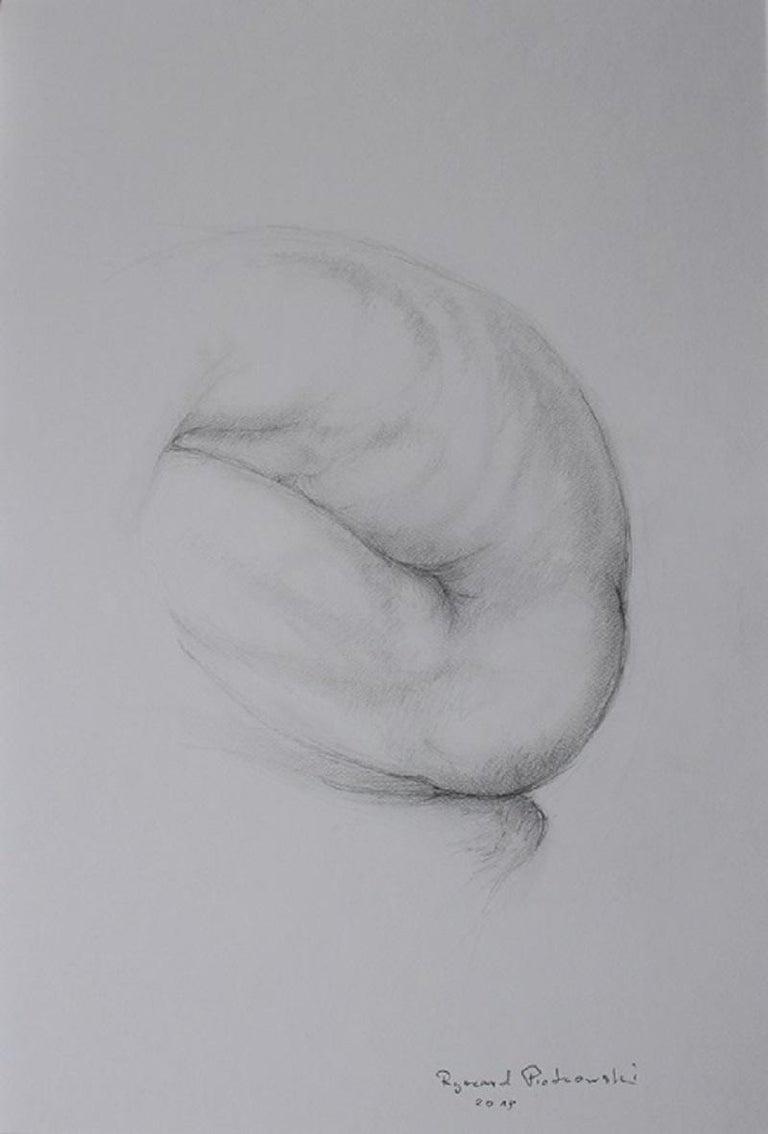 Nude - XXI century, Figurative drawing, Pencil 1