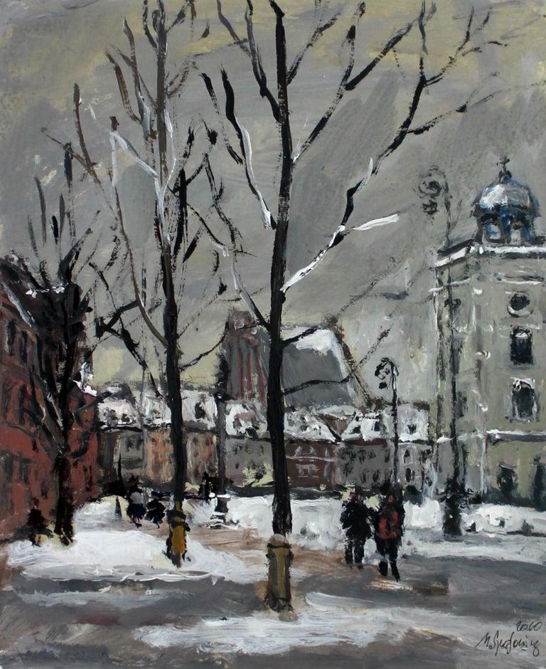 Warsaw Krakowskie Przedmieście XXI century, Oil on canvas, Figurative, Landscape 1