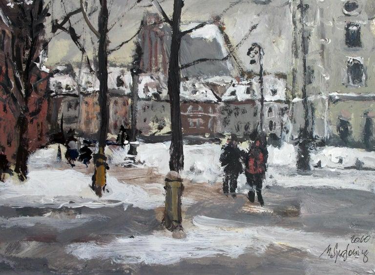 Warsaw Krakowskie Przedmieście XXI century, Oil on canvas, Figurative, Landscape 3
