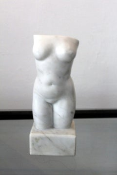 Nude - XXI century, Marble figurative sculpture