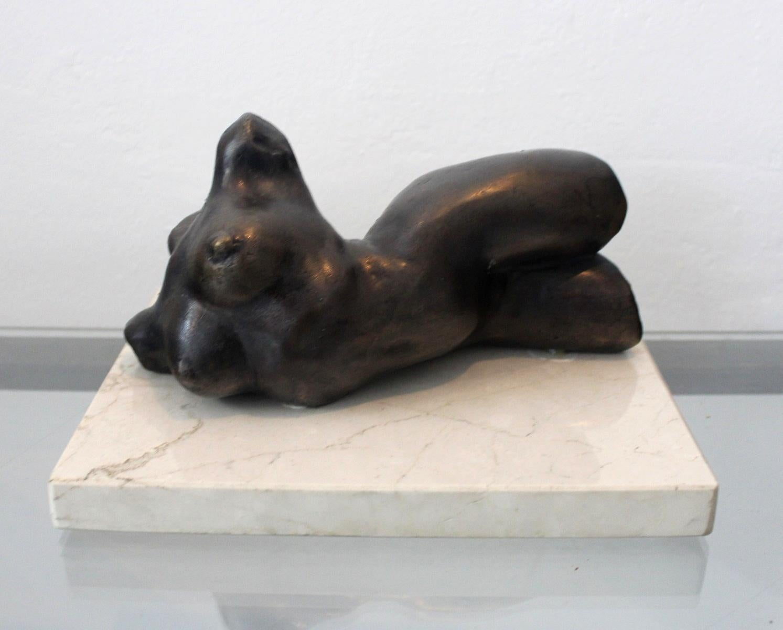 Female torso - XXI century, Bronze figurative sculpture, Nude