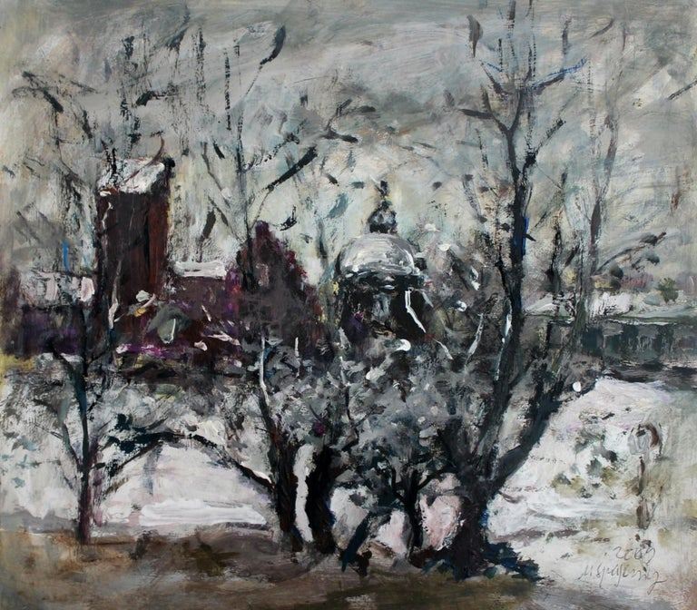 Magdalena Spasowicz Landscape Painting - Warsaw - XXI century, Oil on canvas, Figurative, Landscape
