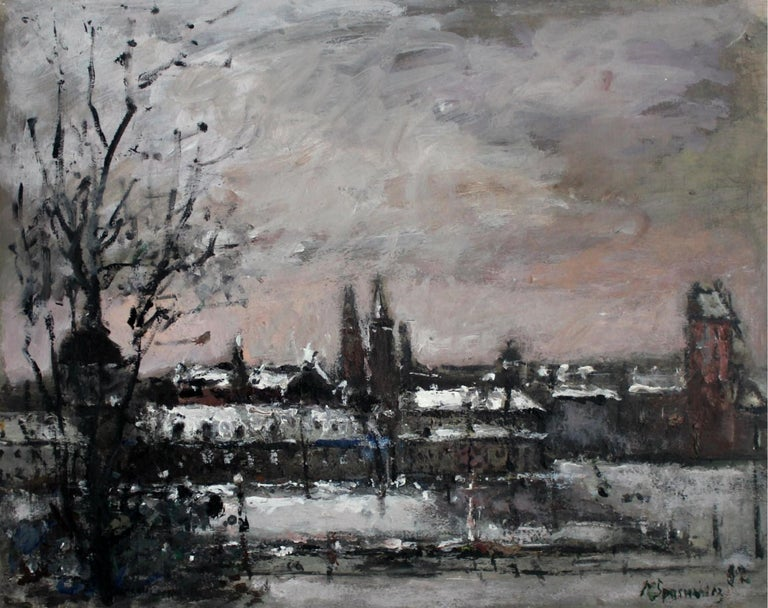 Warsaw. The Old Town - XXI century, Oil on canvas, Figurative, Landscape 1