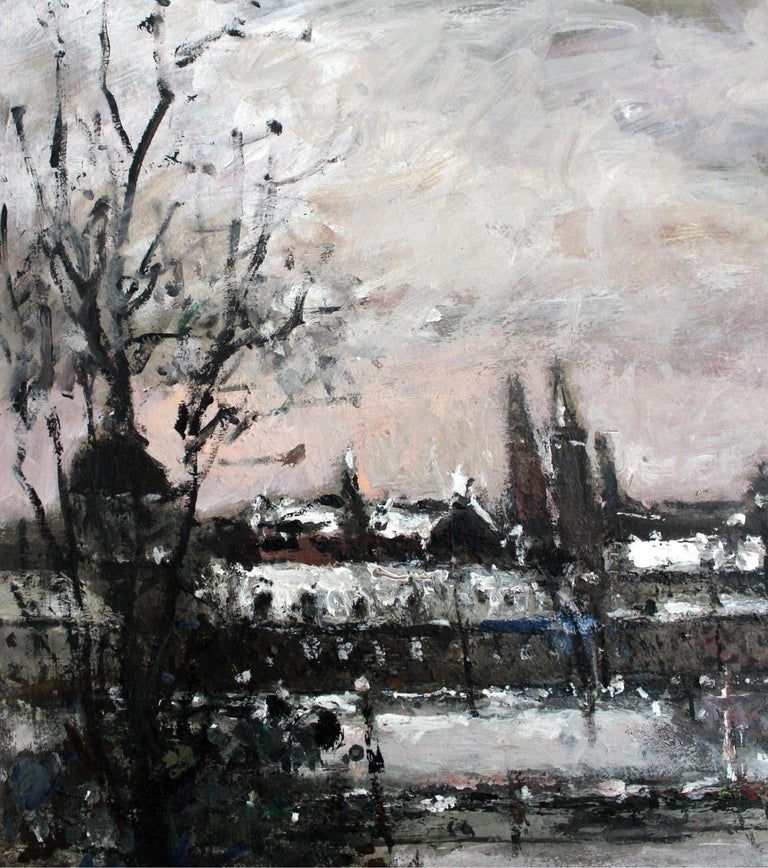 Warsaw. The Old Town - XXI century, Oil on canvas, Figurative, Landscape 2