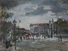 Warsaw Krakowskie Przedmieście XXI century, Oil on canvas, Figurative, Landscape