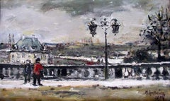 Warsaw. The WZ - XXI century, Oil on canvas, Figurative, Landscape