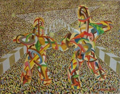 Double fantasy - XX century, Mixed media, Colourful abstraction, Avantgarde