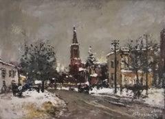 Leszno view - XXI century, Oil on canvas, Figurative, Landscape