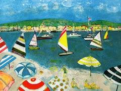 Beach - Contemporary art, Landscape print, Figurative