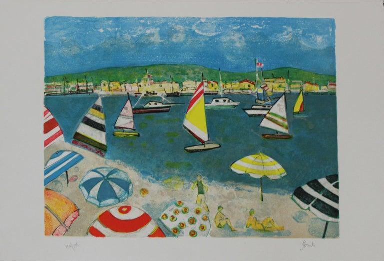 Beach - Contemporary art, Landscape print, Figurative 2