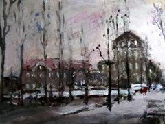 Warsaw - XXI century, Oil on canvas, Figurative, Landscape