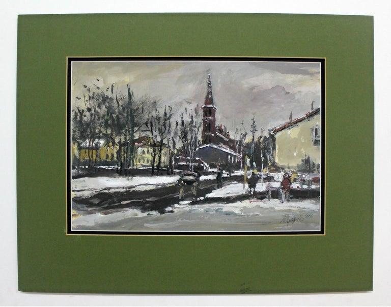 Winter view - XXI century, Oil on canvas, Figurative, Landscape 2