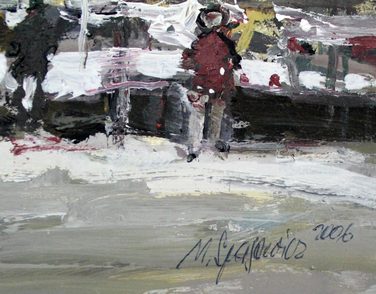 Winter view - XXI century, Oil on canvas, Figurative, Landscape 4