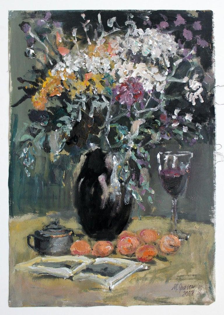 Still life - XXI century, Oil painting, Figurative, Grey tones 2