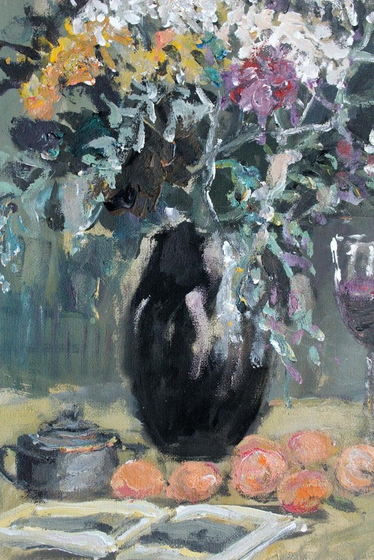 Still life - XXI century, Oil painting, Figurative, Grey tones 3