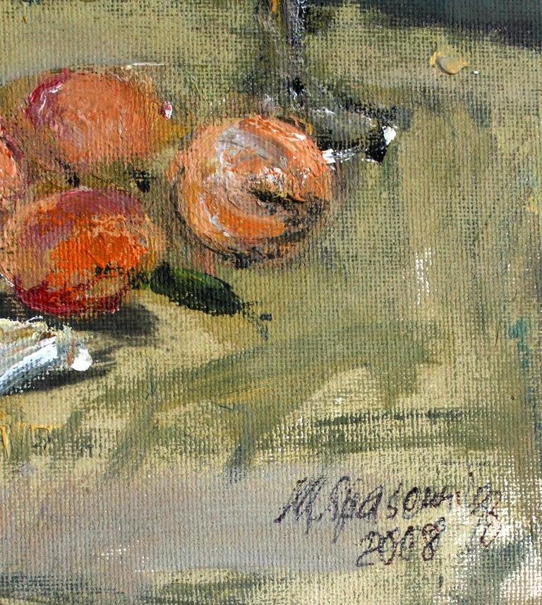 Still life - XXI century, Oil painting, Figurative, Grey tones 4
