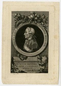 The Austrian general Gideon von Laudon by Jacob Adam - Engraving - 18th Century