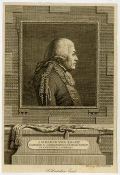 Commander J. M. von Kropff by Hendrik Roosing - Engraving - 18th Century