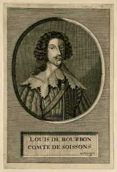 Portrait of Louis de Bourbon by Willem Jongman - Engraving - 18th Century