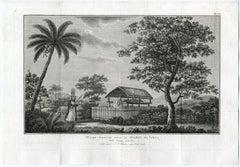Corps display on Tahiti by J.S. Klauber - Etching / engraving - 18th Century