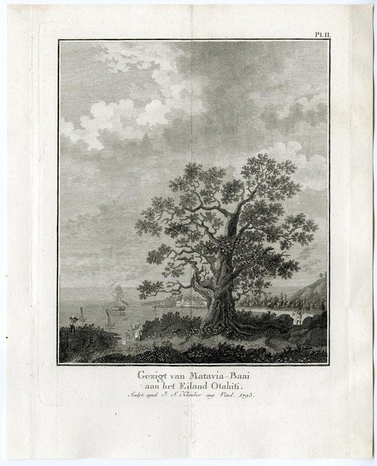 Joseph Sebastian Klauber, <i>View of Matavia Bay on Tahiti</i>, 1795, offered by the Prints Collector