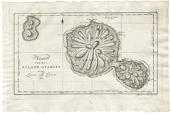 Map of Tahiti by Cook by J.S. Klauber - Etching / engraving - 18th Century