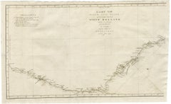 Map of Cooks Strait by C. van Baarsel - Etching / engraving - 18th Century