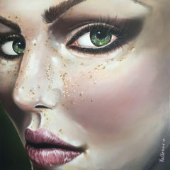 Freckles - Metallic Collection, Painting, Acrylic on Canvas