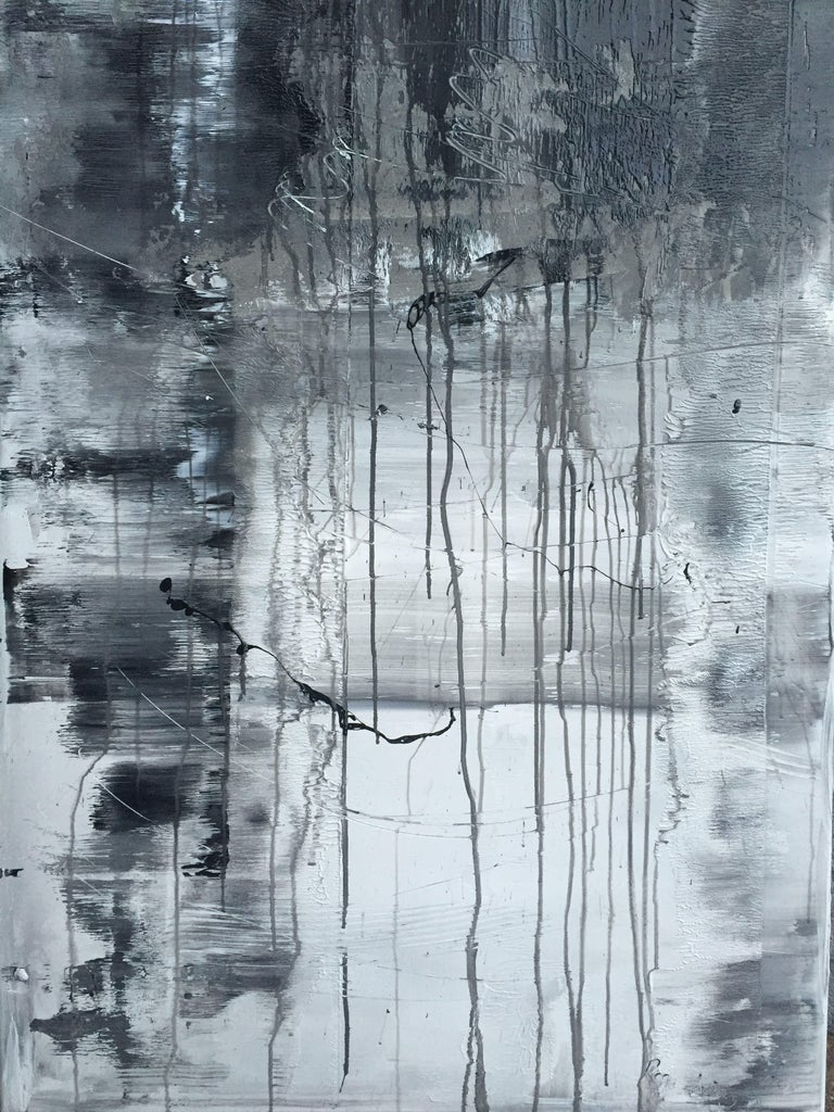 1055 blackgreywhite abstract painting acrylic on canvas