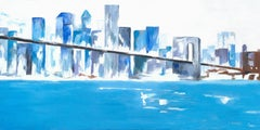 New York Blue, Painting, Acrylic on Canvas