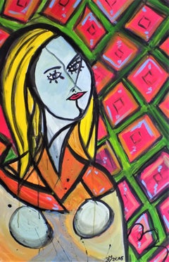 Come out to play.....Monique!, Painting, Acrylic on Canvas
