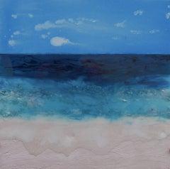 Pink Beach II, Painting, Acrylic on Canvas
