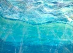 Underwater Light, Painting, Acrylic on Wood Panel