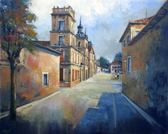 Spanish Town II, Painting, Oil on Canvas