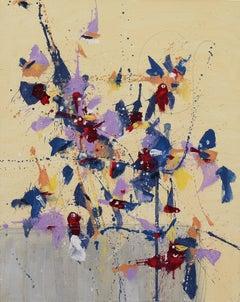 Fleur du Ciel (Flower of the Sky), Painting, Oil on Canvas