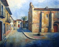 Spanish Town, Painting, Oil on Canvas