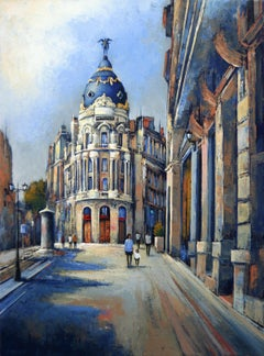 Metropolis in Madrid, Painting, Oil on Canvas