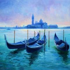 Venice impression, Painting, Oil on Wood Panel