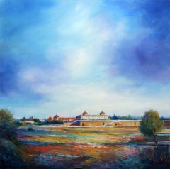 Clouds Over The Boadilla Palace, Painting, Oil on Wood Panel