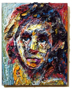 UNTITLED x1245 - Original oil painting portrait, Painting, Oil on Canvas