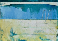 """Pool 01"" 39.37/27.5 100/70cm., Painting, Oil on Canvas"